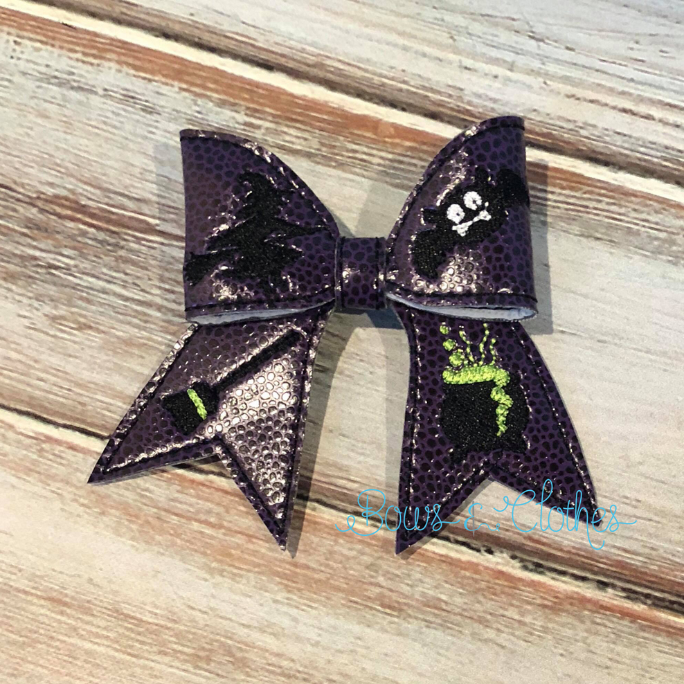 Witch Cheer Bow
